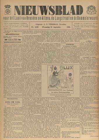 Nieuwsblad het land van Heusden en Altena de Langstraat en de Bommelerwaard 1921-09-21