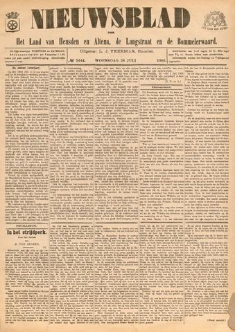 Nieuwsblad het land van Heusden en Altena de Langstraat en de Bommelerwaard 1905-07-26