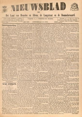 Nieuwsblad het land van Heusden en Altena de Langstraat en de Bommelerwaard 1905-06-29