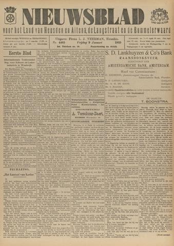 Nieuwsblad het land van Heusden en Altena de Langstraat en de Bommelerwaard 1925-01-09
