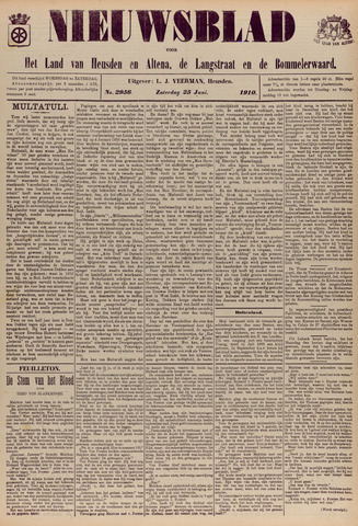 Nieuwsblad het land van Heusden en Altena de Langstraat en de Bommelerwaard 1910-06-25