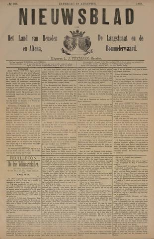 Nieuwsblad het land van Heusden en Altena de Langstraat en de Bommelerwaard 1888-08-18