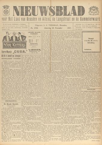Nieuwsblad het land van Heusden en Altena de Langstraat en de Bommelerwaard 1917-11-10