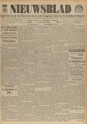 Nieuwsblad het land van Heusden en Altena de Langstraat en de Bommelerwaard 1923-03-30