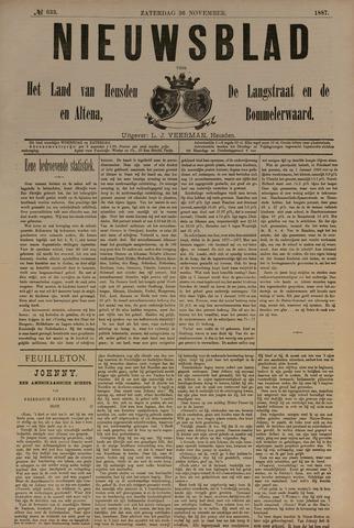 Nieuwsblad het land van Heusden en Altena de Langstraat en de Bommelerwaard 1887-11-26