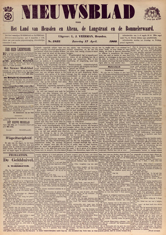 Nieuwsblad het land van Heusden en Altena de Langstraat en de Bommelerwaard 1909-04-17