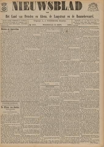 Nieuwsblad het land van Heusden en Altena de Langstraat en de Bommelerwaard 1900-09-12