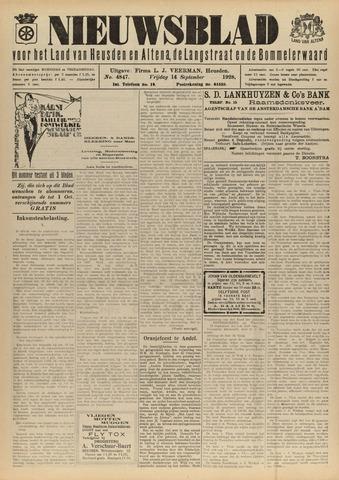 Nieuwsblad het land van Heusden en Altena de Langstraat en de Bommelerwaard 1928-09-14