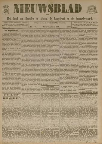 Nieuwsblad het land van Heusden en Altena de Langstraat en de Bommelerwaard 1899-01-25