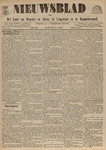 Nieuwsblad het land van Heusden en Altena de Langstraat en de Bommelerwaard 1903-09-05
