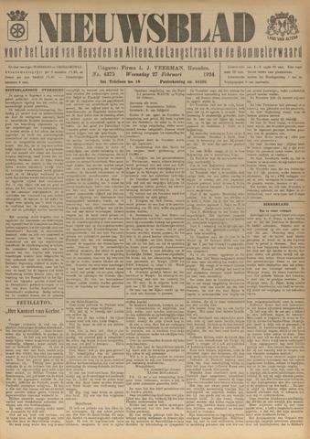 Nieuwsblad het land van Heusden en Altena de Langstraat en de Bommelerwaard 1924-02-27
