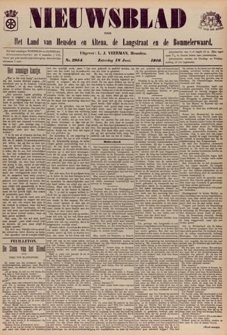 Nieuwsblad het land van Heusden en Altena de Langstraat en de Bommelerwaard 1910-06-18