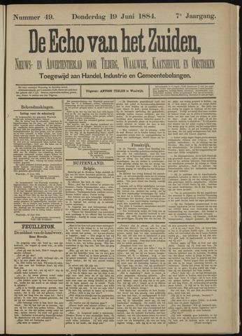 Echo van het Zuiden 1884-06-19