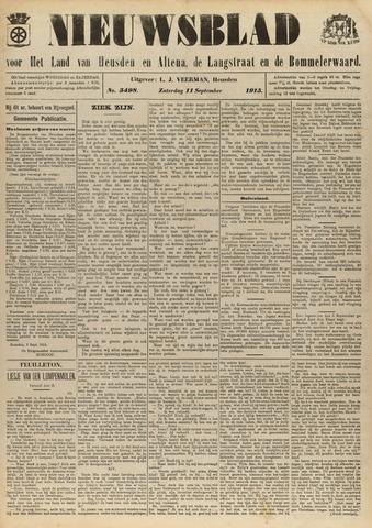 Nieuwsblad het land van Heusden en Altena de Langstraat en de Bommelerwaard 1915-09-11