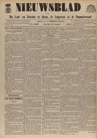 Nieuwsblad het land van Heusden en Altena de Langstraat en de Bommelerwaard 1915-08-14
