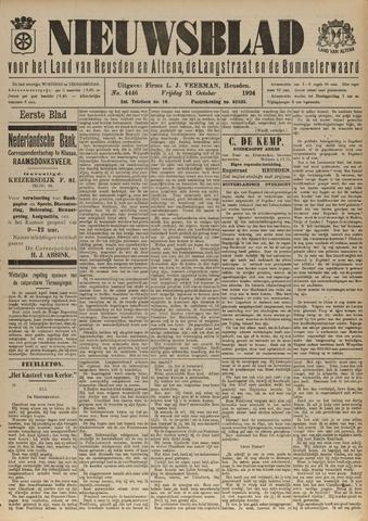 Nieuwsblad het land van Heusden en Altena de Langstraat en de Bommelerwaard 1924-10-31