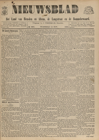 Nieuwsblad het land van Heusden en Altena de Langstraat en de Bommelerwaard 1903-11-11