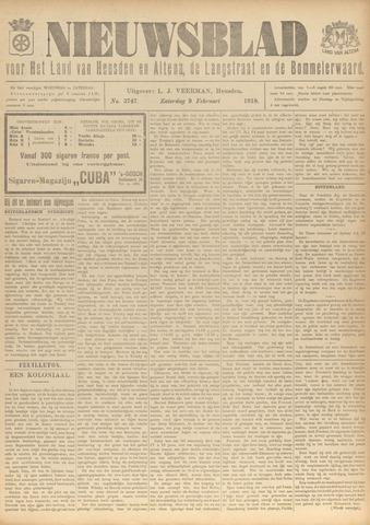 Nieuwsblad het land van Heusden en Altena de Langstraat en de Bommelerwaard 1918-02-09