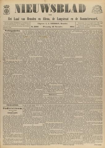 Nieuwsblad het land van Heusden en Altena de Langstraat en de Bommelerwaard 1911-11-15