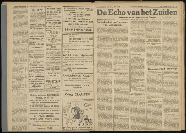 Echo van het Zuiden 1947-03-27