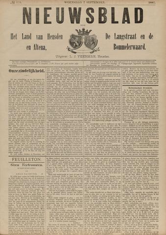 Nieuwsblad het land van Heusden en Altena de Langstraat en de Bommelerwaard 1887-09-07