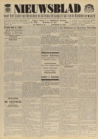 Nieuwsblad het land van Heusden en Altena de Langstraat en de Bommelerwaard 1929-06-19