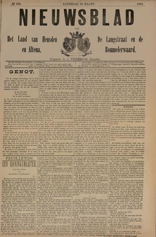 Nieuwsblad het land van Heusden en Altena de Langstraat en de Bommelerwaard 1888-03-10