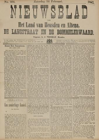 Nieuwsblad het land van Heusden en Altena de Langstraat en de Bommelerwaard 1885-02-14