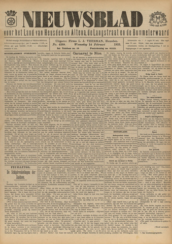 Nieuwsblad het land van Heusden en Altena de Langstraat en de Bommelerwaard 1923-02-14