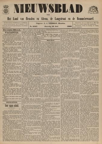 Nieuwsblad het land van Heusden en Altena de Langstraat en de Bommelerwaard 1906-07-21