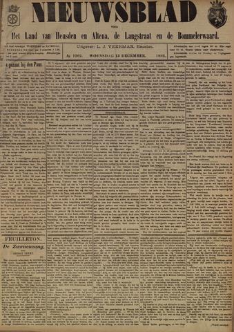 Nieuwsblad het land van Heusden en Altena de Langstraat en de Bommelerwaard 1893-12-13