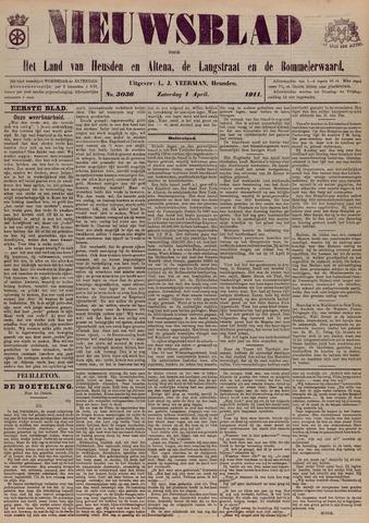 Nieuwsblad het land van Heusden en Altena de Langstraat en de Bommelerwaard 1911-04-01