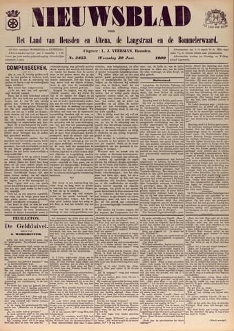 Nieuwsblad het land van Heusden en Altena de Langstraat en de Bommelerwaard 1909-06-30