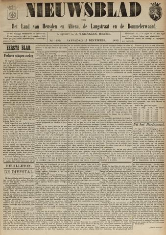 Nieuwsblad het land van Heusden en Altena de Langstraat en de Bommelerwaard 1892-12-17