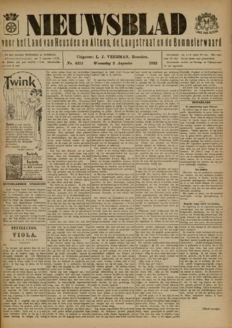 Nieuwsblad het land van Heusden en Altena de Langstraat en de Bommelerwaard 1922-08-02