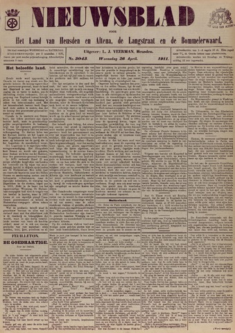 Nieuwsblad het land van Heusden en Altena de Langstraat en de Bommelerwaard 1911-04-26