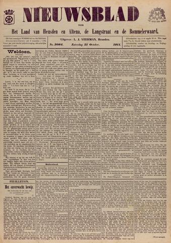 Nieuwsblad het land van Heusden en Altena de Langstraat en de Bommelerwaard 1911-10-21