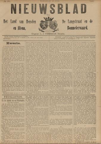 Nieuwsblad het land van Heusden en Altena de Langstraat en de Bommelerwaard 1887-07-13