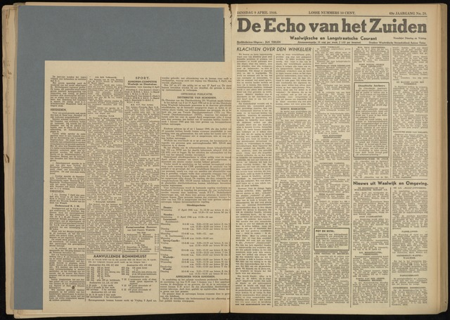 Echo van het Zuiden 1946-04-09