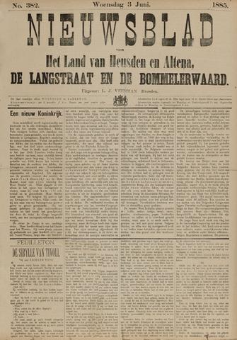 Nieuwsblad het land van Heusden en Altena de Langstraat en de Bommelerwaard 1885-06-03