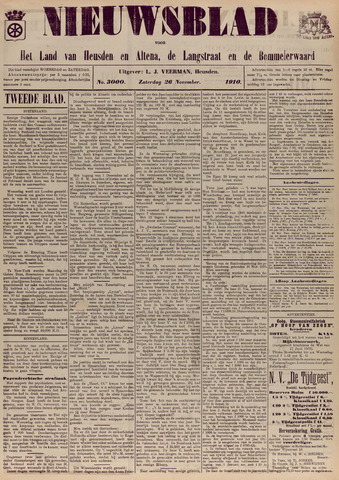 Nieuwsblad het land van Heusden en Altena de Langstraat en de Bommelerwaard 1910-11-26