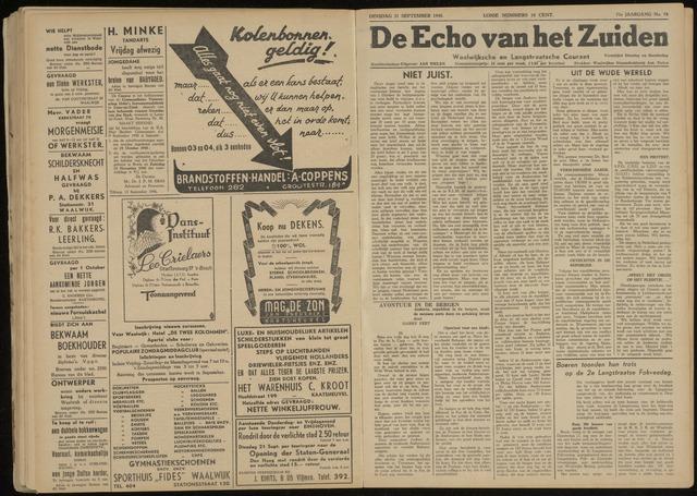 Echo van het Zuiden 1948-09-21