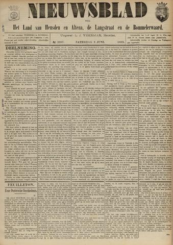 Nieuwsblad het land van Heusden en Altena de Langstraat en de Bommelerwaard 1893-06-03