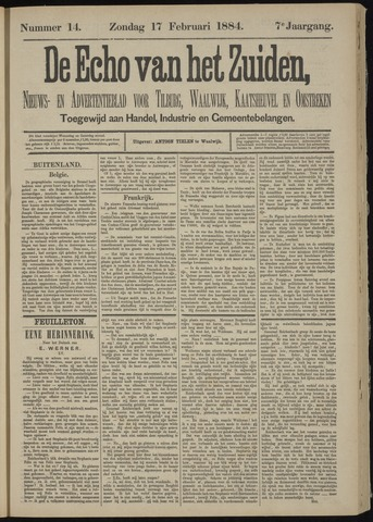 Echo van het Zuiden 1884-02-17