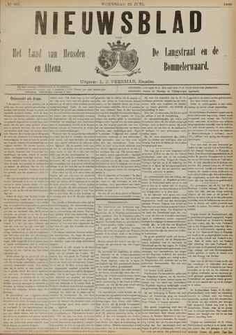 Nieuwsblad het land van Heusden en Altena de Langstraat en de Bommelerwaard 1890-06-25