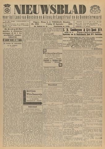 Nieuwsblad het land van Heusden en Altena de Langstraat en de Bommelerwaard 1930-09-19