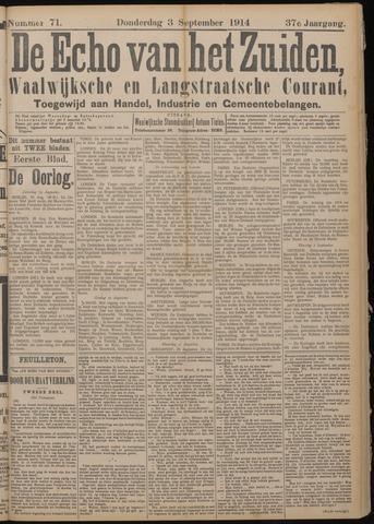 Echo van het Zuiden 1914-09-03