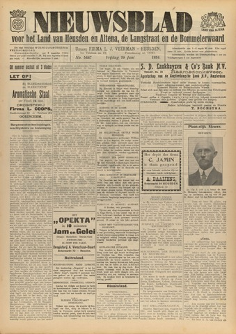 Nieuwsblad het land van Heusden en Altena de Langstraat en de Bommelerwaard 1934-06-29