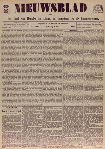 Nieuwsblad het land van Heusden en Altena de Langstraat en de Bommelerwaard 1911-07-01