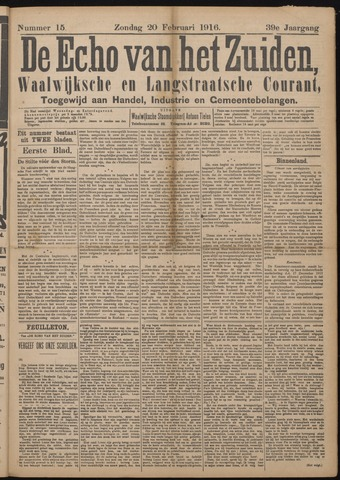 Echo van het Zuiden 1916-02-20
